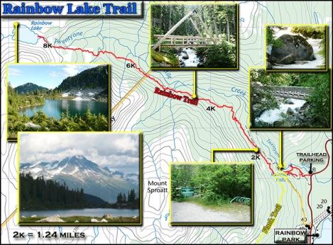 rainbow lake trail topo map