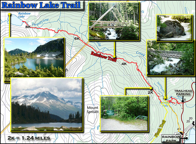 rainbow lake trail topo map